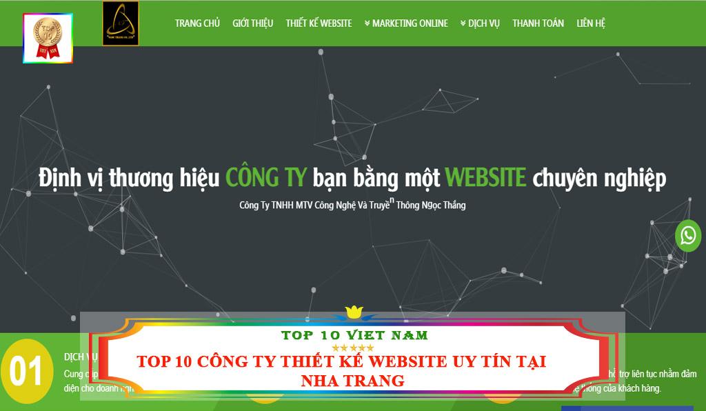 TOP 10 CÔNG TY THIẾT KẾ WEBSITE UY TÍN TẠI NHA TRANG