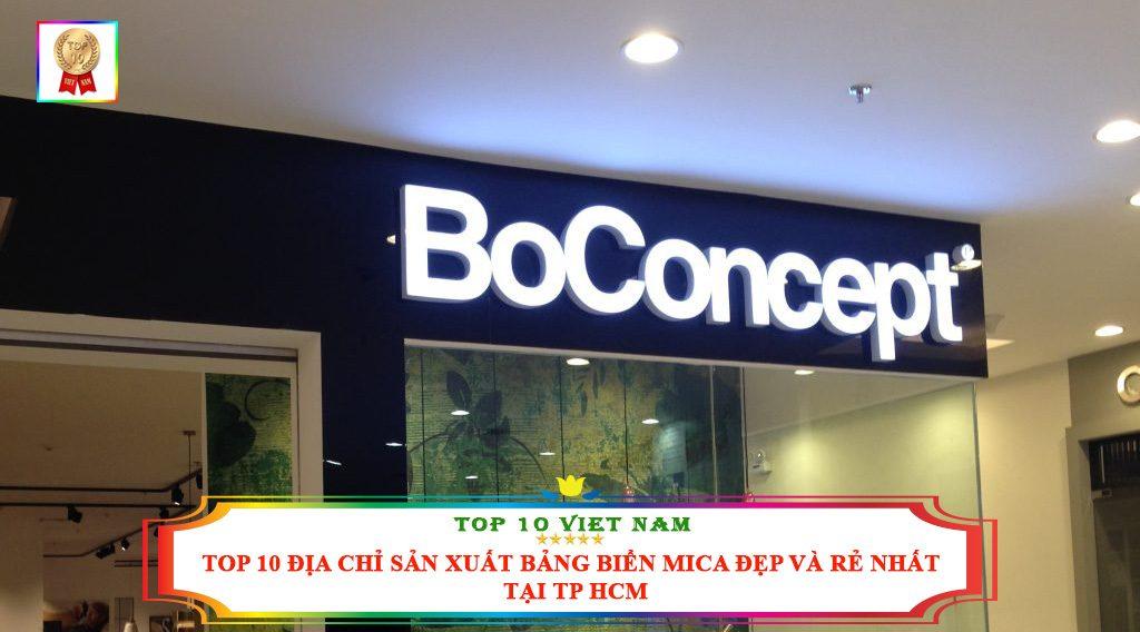 TOP 10 ĐỊA CHỈ SẢN XUẤT BẢNG BIỂN MICA ĐẸP VÀ NHẤT TẠI TP HCM