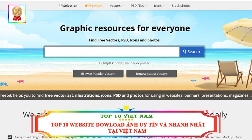 TOP 10 WEBSITE DOWLOAD ẢNH UY TÍN VÀ NHANH NHẤT TẠI VIỆT NAM