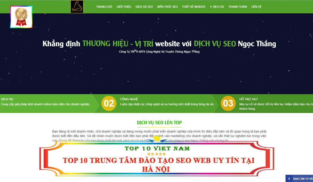 Trung tâm đào tạo seo website Ngọc Thắng
