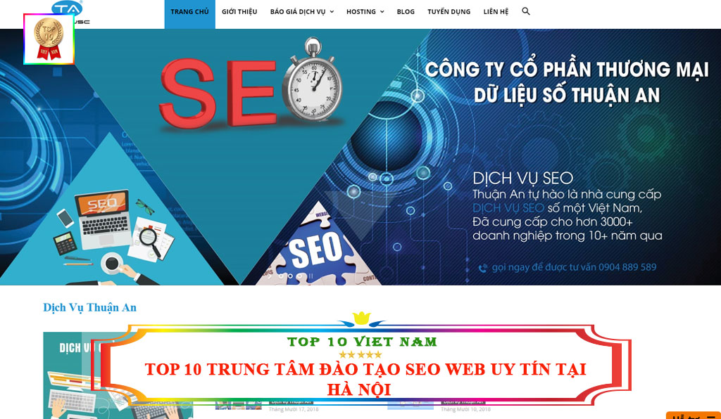 Trung tâm đào tạo seo website Thuận An