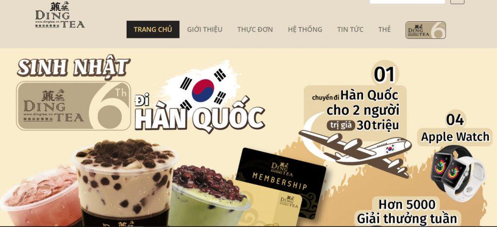 Chuỗi cửa hàng Ding tea tại Việt Nam