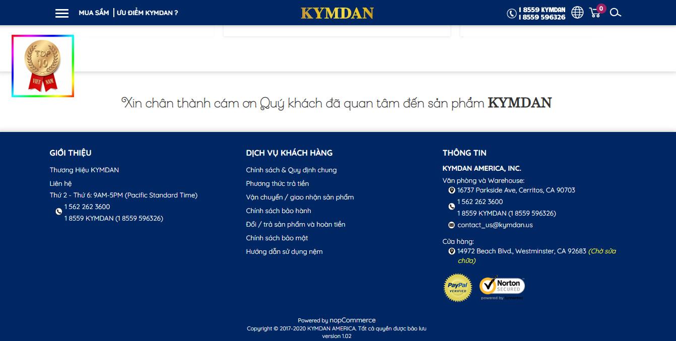 Cửa hàng Kymdan trên toàn quốc