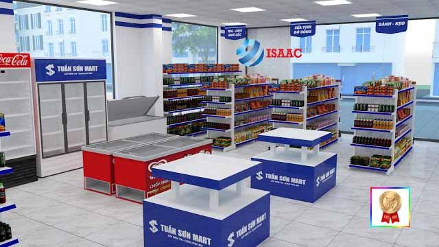 Isaac setup giá kệ siêu thị