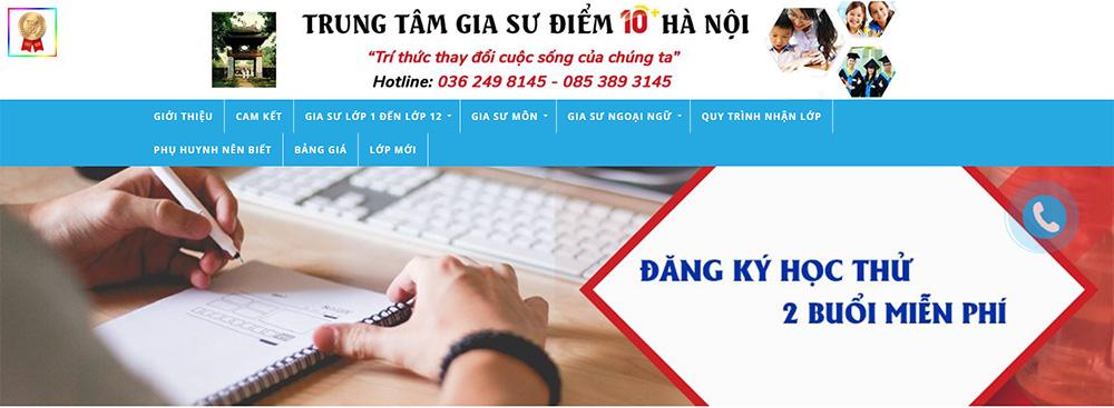 gia sư điểm 10 Hà Nội