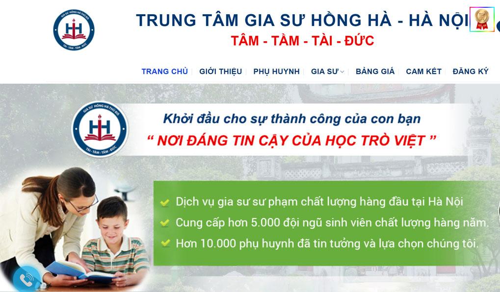 gia sư hồng hà uy tín tại quận Hoàn Kiếm