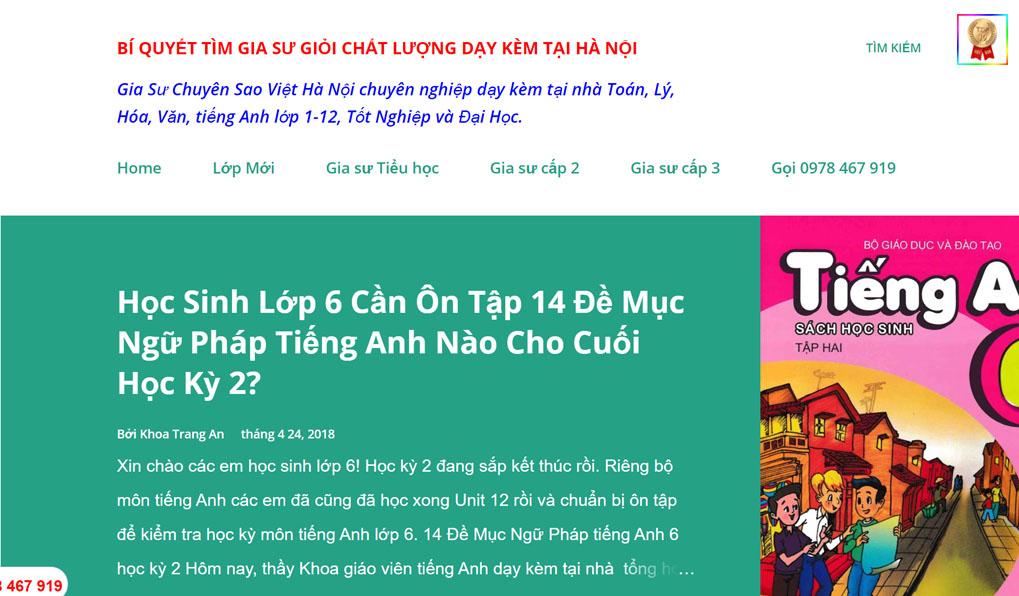 gia sư Toán Hà Nội chất lượng
