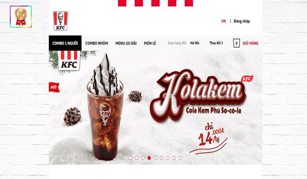Trang chủ KFC Việt Nam